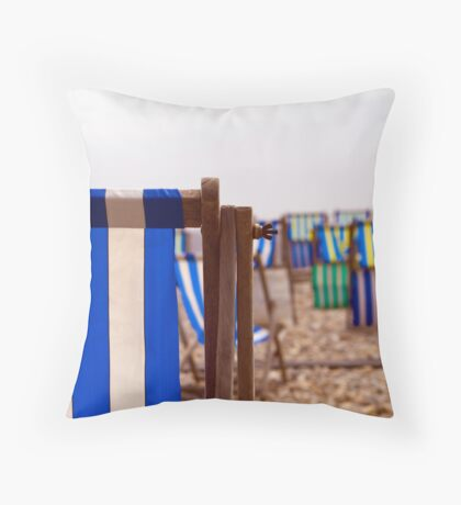 awaiting the daytrippers Throw Pillow