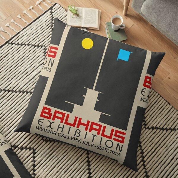 Bauhaus Exhibition III Poster / Weimar Gallery Floor Pillow