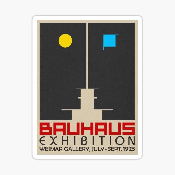 Bauhaus Exhibition III Poster / Weimar Gallery Sticker