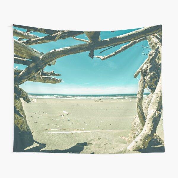 Beach Hut - Summer Time Blue Tapestry