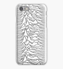 Music band waves - white&black iPhone Case/Skin