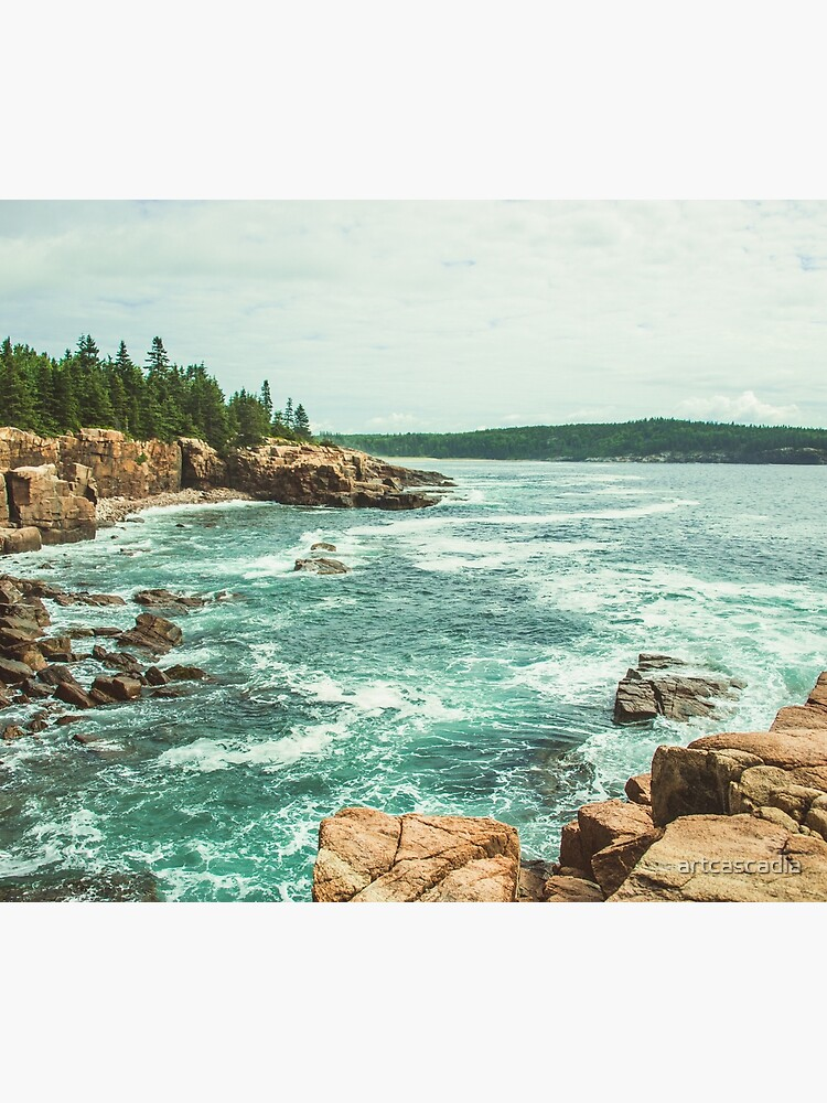Acadia Coastline - National Park Ocean by artcascadia