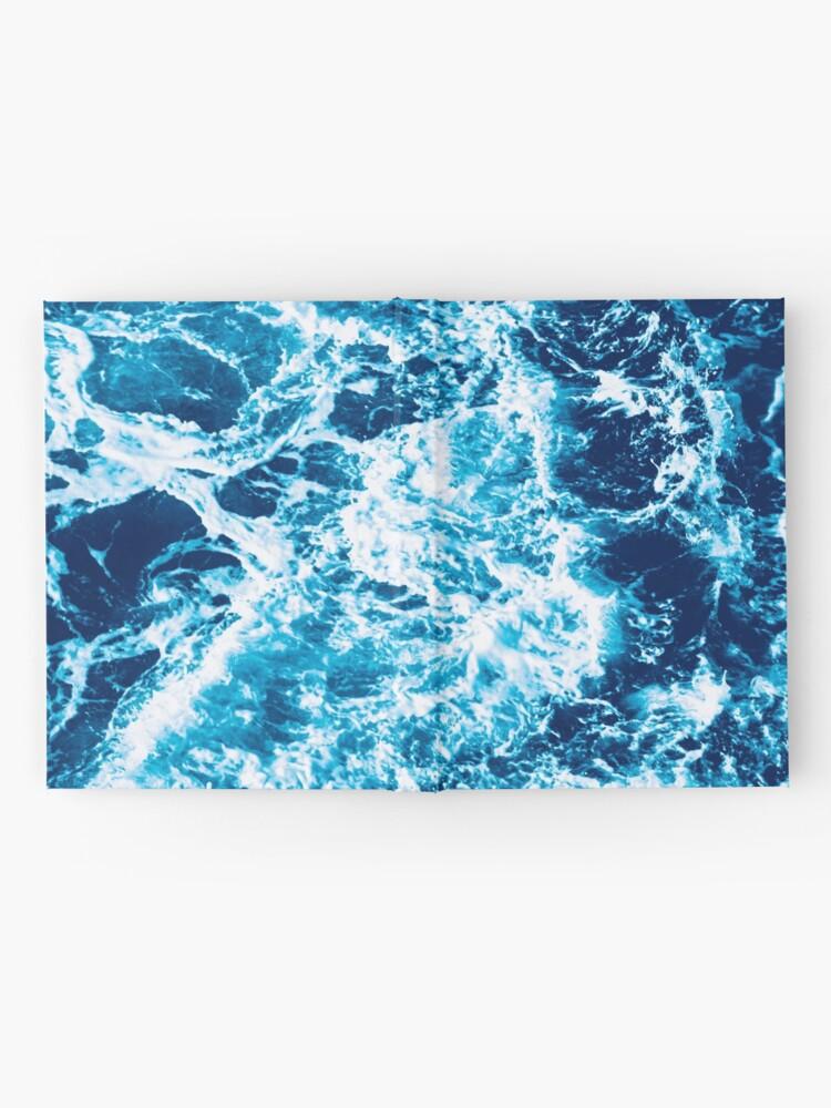 Vista alternativa de Cuaderno de tapa dura Ola de mar turquesa - marmoleado eléctrico