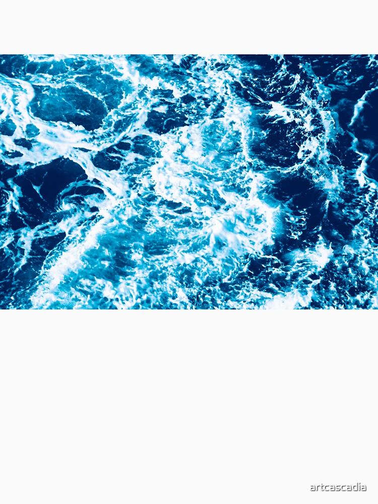 Ola de mar turquesa - marmoleado eléctrico de artcascadia