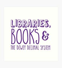 Bibliotheken, BÜCHER und das Dewey-Dezimalsystem Kunstdruck