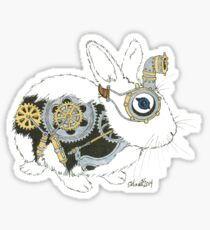 Daily Doodle 33 - Robot - Steampunk Bunny -Elvis Sticker