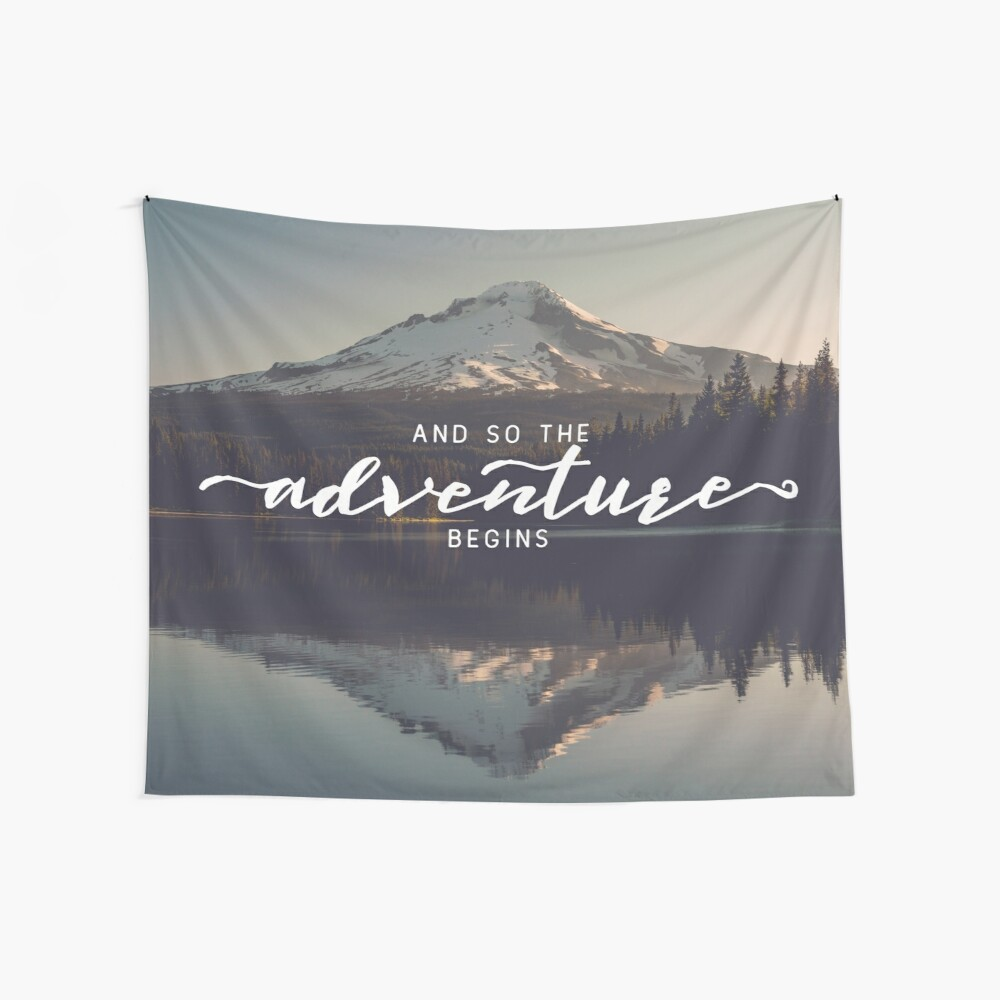 And So The Adventure Begins - Woods Trees Forest Mountain Mt Hood Wall Decor Wall Tapestry