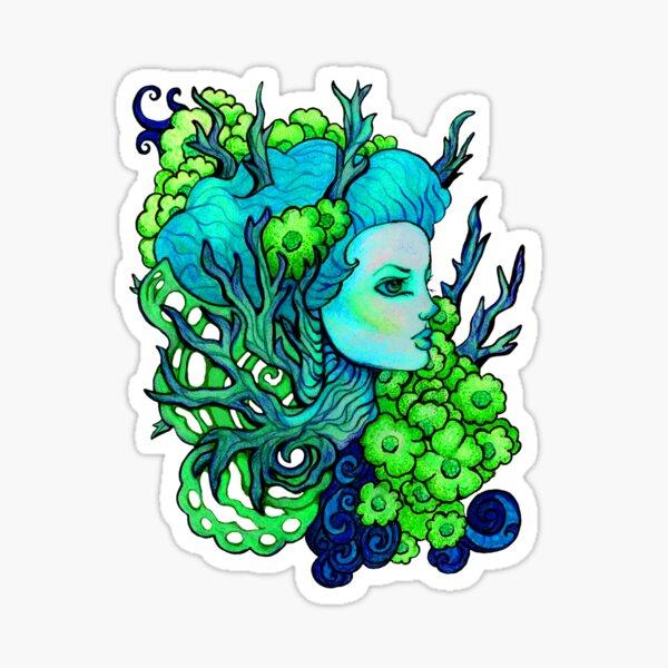 Dryad Flower Fairy Image Title: Spring Sprite Sticker