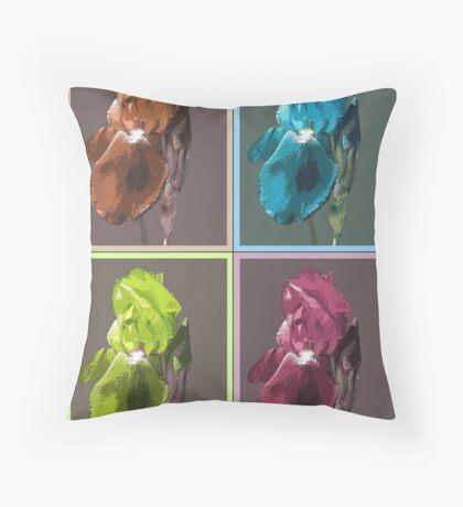 One Iris Plus Three Throw Pillow