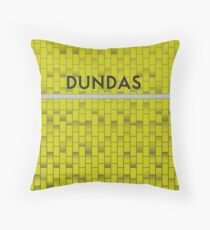 DUNDAS Subway Station Throw Pillow
