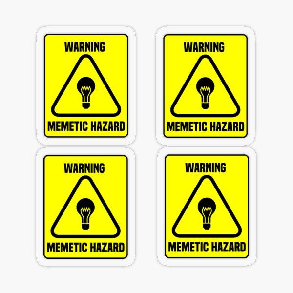 Warning Memetic Hazard Sticker SCP Foundation Transparent Sticker