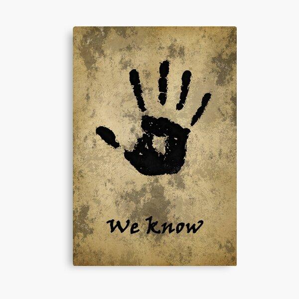 Skyrim:  We Know Canvas Print