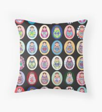 cute doll matryoshka Throw Pillow