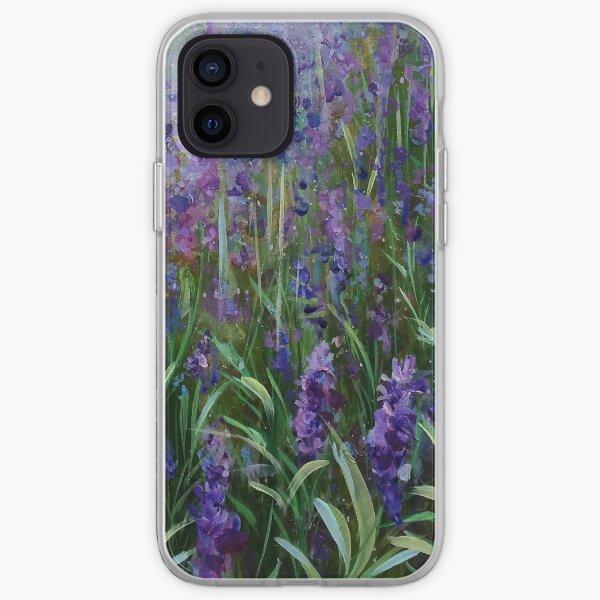 Purple rain- Lavender design iPhone Soft Case