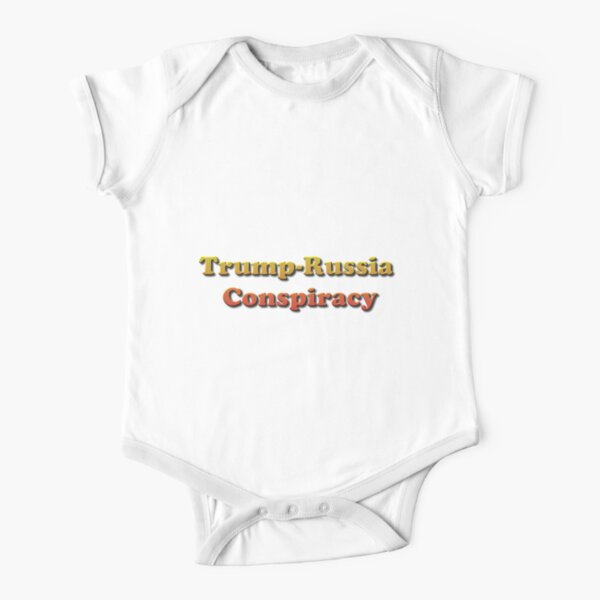 Trump-Russia Conspiracy Short Sleeve Baby One-Piece