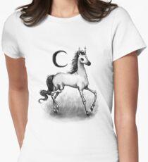 Blasses Pferd Tailliertes T-Shirt für Frauen