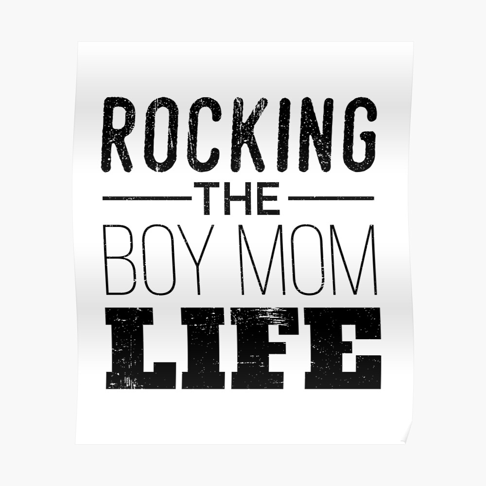 Boy Mom Life Sticker Vinyl car or Laptop Decal die Cut Graphic White