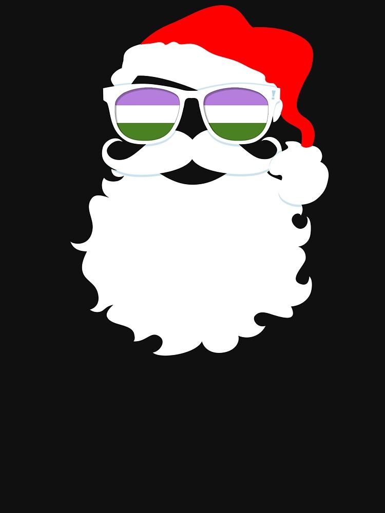 Santa Claus Genderqueer Pride Flag Sunglasses by valador