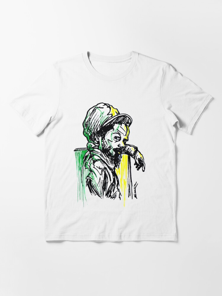 Alternate view of Rastafarian Leaning on Wall Essential T-Shirt