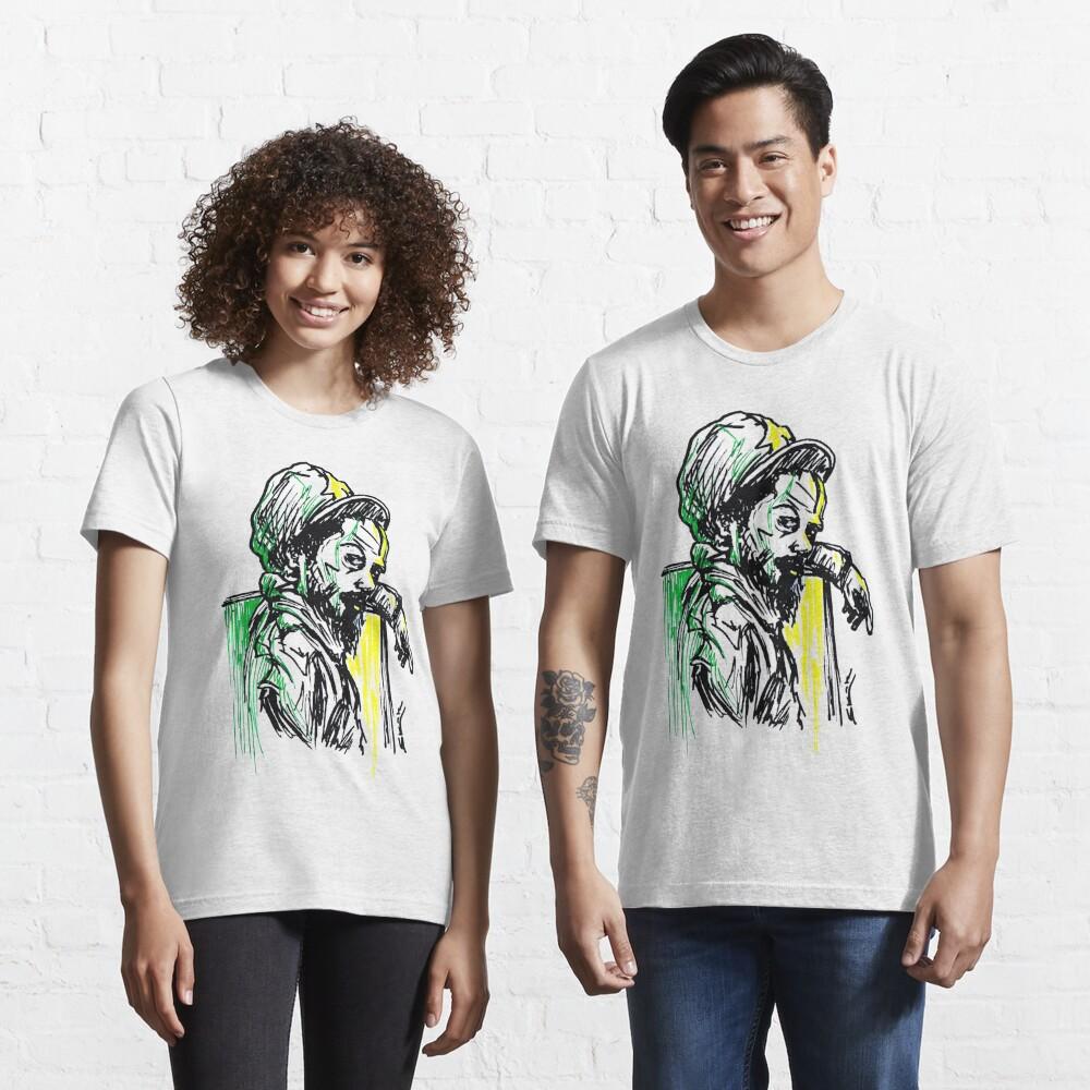 Rastafarian Leaning on Wall Essential T-Shirt