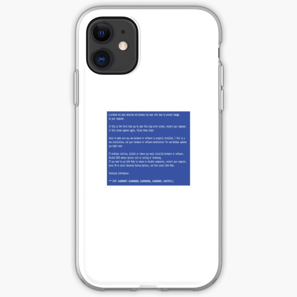 This is a perfect gift for computer users who hates Blue Screen of Death, Classic BSOD Error T-Shirt iPhone Soft Case