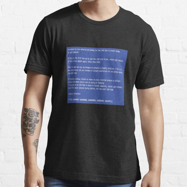 This is a perfect gift for computer users who hates Blue Screen of Death, Classic BSOD Error T-Shirt Essential T-Shirt