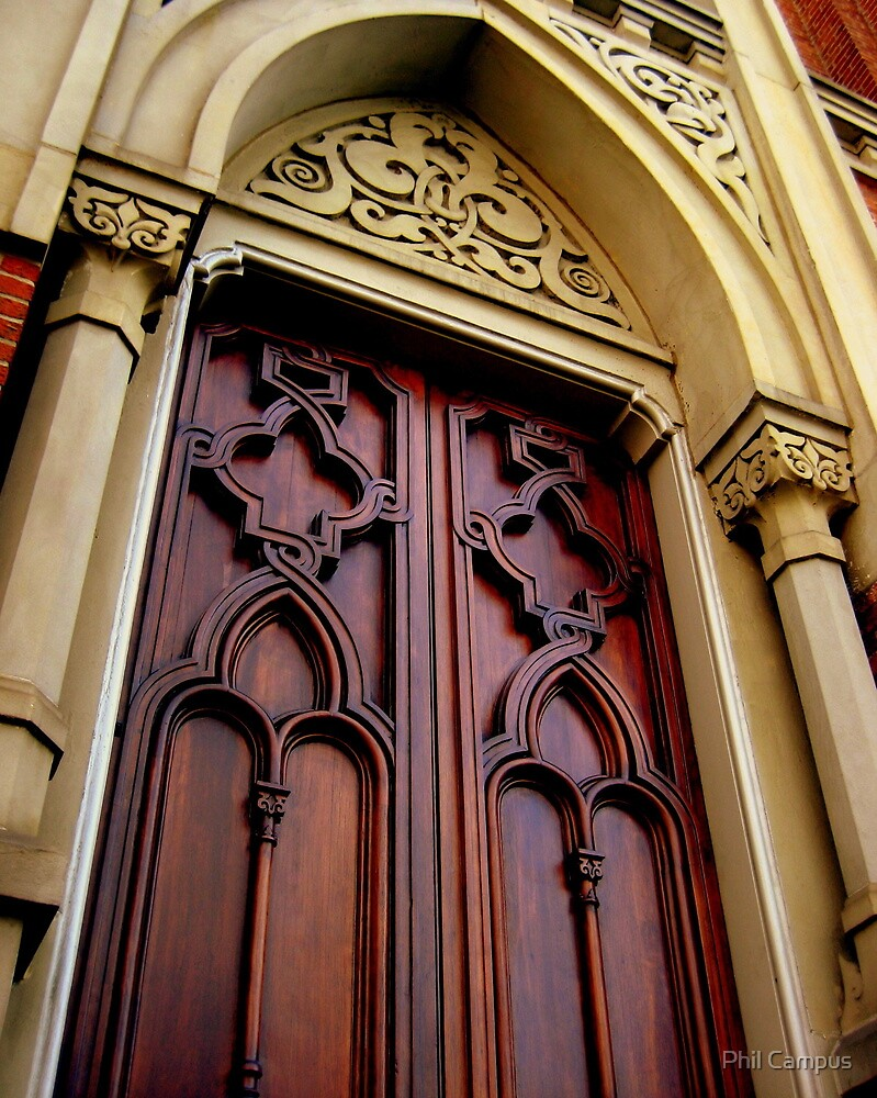 Wise Temple Church Door Cinci, Oh by Phil Campus