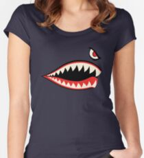 WW 2 Flying Tigers Warplane - Phone Case & Stickers Women's Fitted Scoop T-Shirt