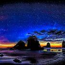 Nacht in Motukiekie Beach Pano in der Westküste von Greymouth, Neuseeland von OLena  Art ❣️