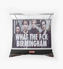 What the eff Birmingham Throw Pillow