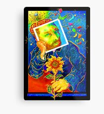Van Gogh with Sunflower Metal Print