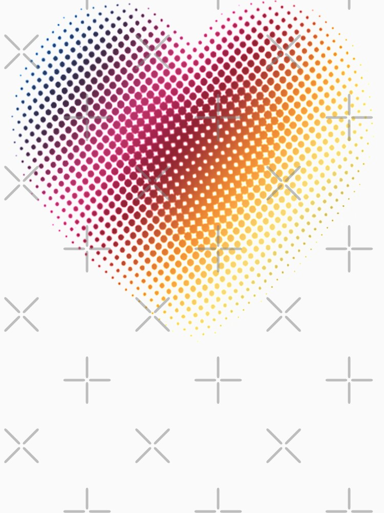 Linear Gradient on Halftone Heart (White) by jrbactor
