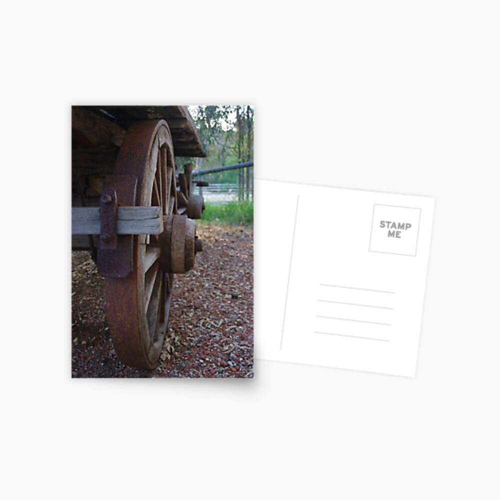 Wagon wheel Postcard