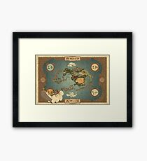 Avatar the Last Airbender - World Map Framed Print