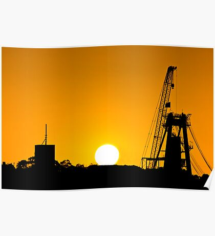 Industrial Sunset Poster