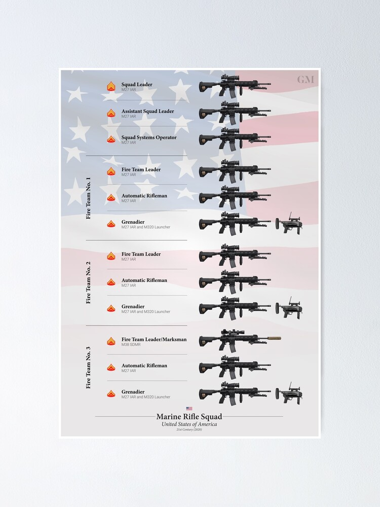 Alternate view of Weapons of the U.S. Marine Rifle Squad (2020) Poster