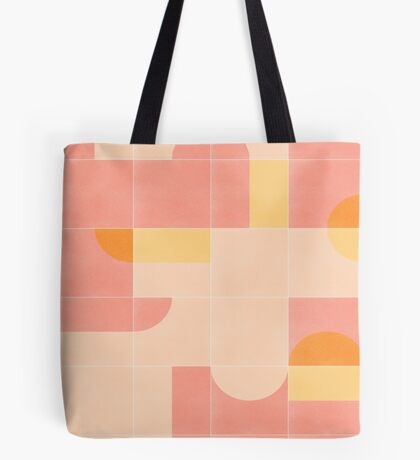 Retro Tiles 02 #redbubble #pattern Tote Bag
