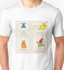 Euclid's Elements Book 1 GeoBunnies 4-Panels Unisex T-Shirt