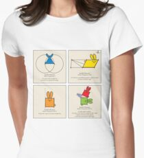 Euclid's Elements Book 1 GeoBunnies 4-Panels Womens Fitted T-Shirt