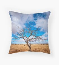 Lonely Tree at Steinfeld - South Australia Throw Pillow