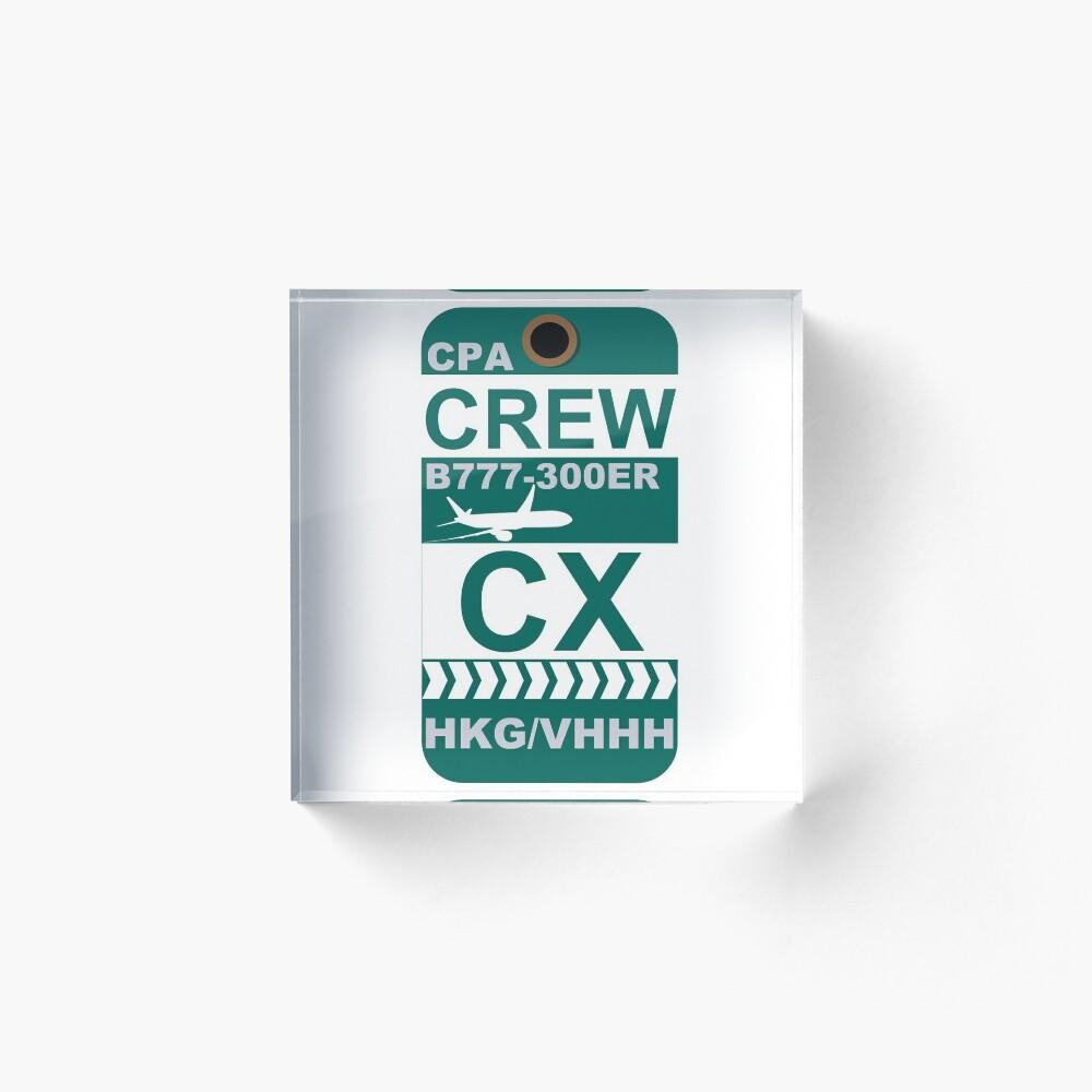 CX Boeing 777-300ER Crew Hong Kong Acrylic Block