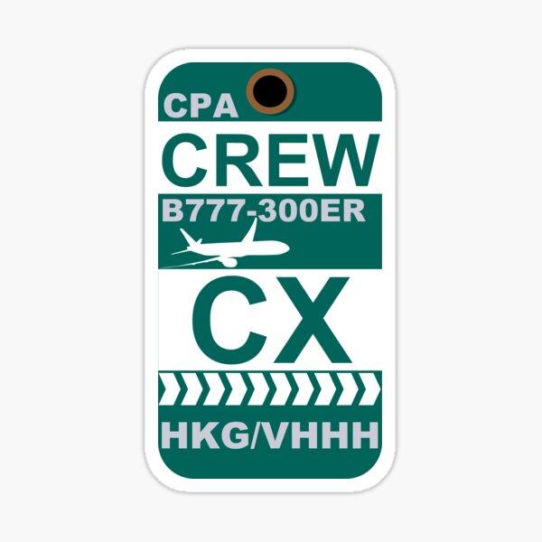 CX Boeing 777-300ER Crew Hong Kong Sticker