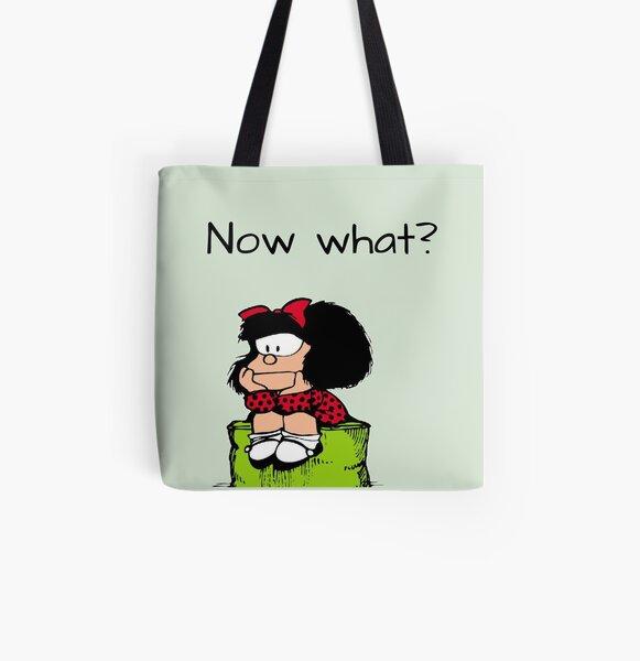 Mafalda pensando Bolsa estampada de tela