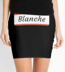 Blanche Name Label  Hello My Name Is Blanche Gift For Blanche or for a female you know called Blanche Minirock