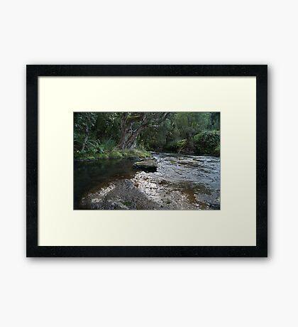 St Joseph's River, Tasmania Framed Print