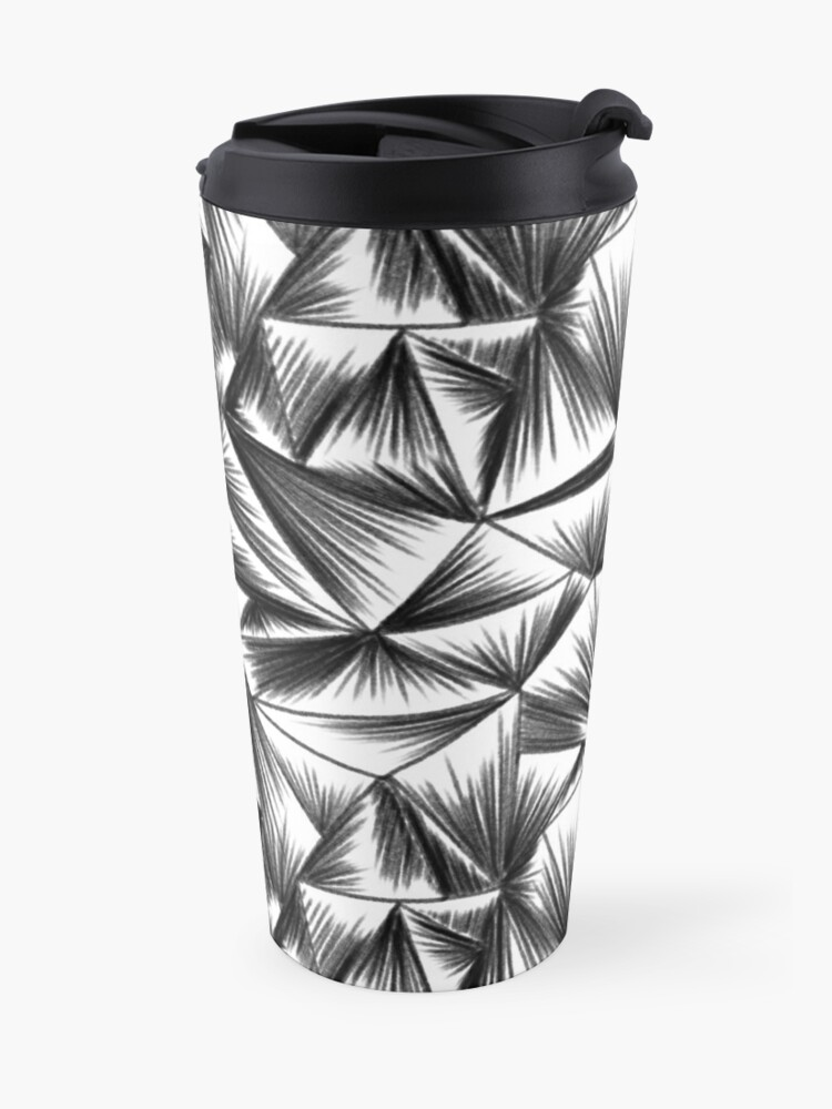 Alternate view of faux corrugated glass pencil drawing Travel Mug