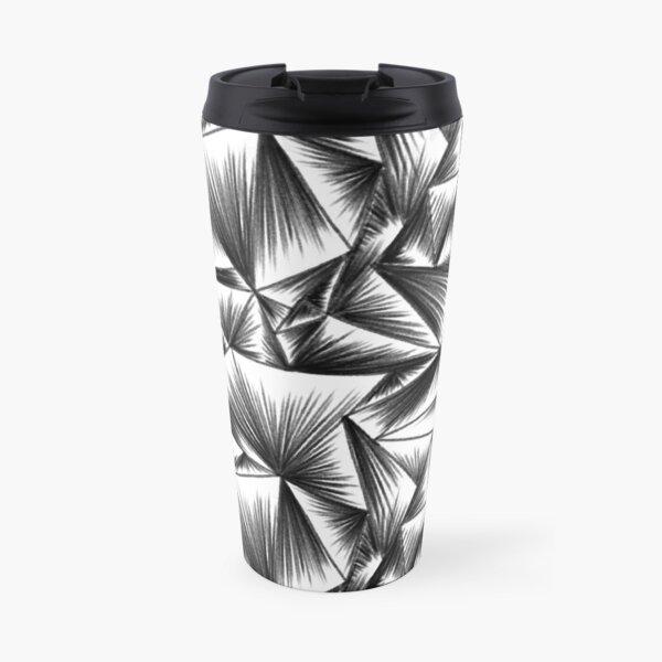 faux corrugated glass pencil drawing Travel Mug