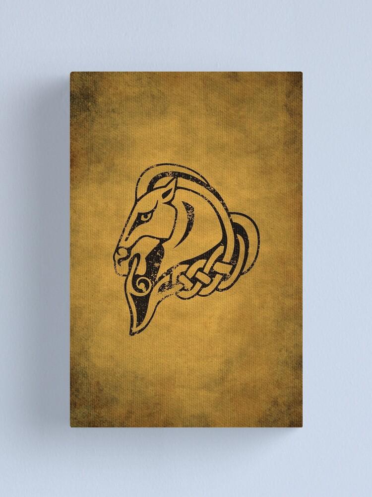 Alternate view of Whiterun Logo · Distressed Canvas Print