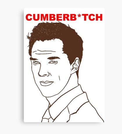 Cumberb*tch Canvas Print
