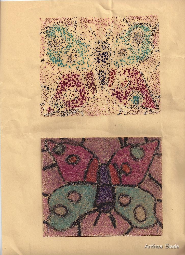 Livvy's Butterflies (Art by my niece Olivia Slade) by Anthea  Slade